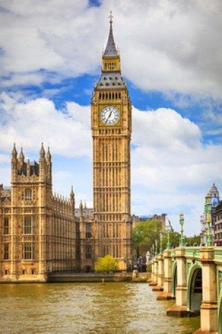 Лондон в картинках Карикатура у Биг Бена